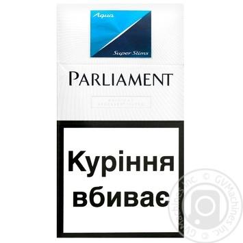 Сигареты Parliament Aqua Super Slims - купить, цены на Ашан - фото 1