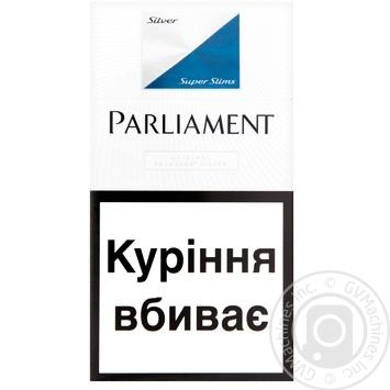 Parliament Super Slims Silver Cigarettes - buy, prices for Novus - image 1