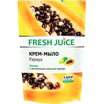Крем-мило Fresh Juice Papaya дой-пак 460мл - купити, ціни на Метро - фото 1