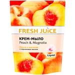 Мыло жидкое Fresh juice персик и магнолия дой-пак 460мл - купить, цены на Novus - фото 1
