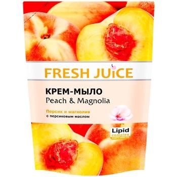 Мыло жидкое Fresh juice персик и магнолия дой-пак 460мл - купить, цены на МегаМаркет - фото 1