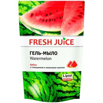 Мыло жидкое Fresh juice арбуз дой-пак 460мл - купить, цены на МегаМаркет - фото 1