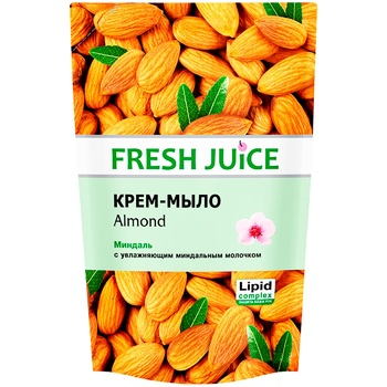 Fresh juice Liquid soap almond do-pack 460ml - buy, prices for Metro - image 1