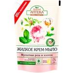 Мыло-крем Зеленая Аптека мускатный роза и хлопок 460мл