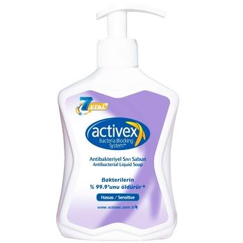 Мыло Activex антибактериальное для чувствительной кожи 300мл - купить, цены на Метро - фото 1