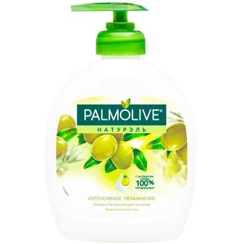 Жидкое мыло Palmolive Натурель Интенсивное увлажнение Олива и увлажняющее молочко 300мл - купить, цены на СитиМаркет - фото 1