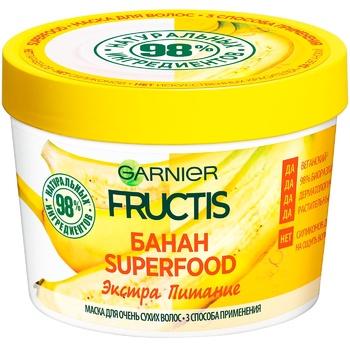 Маска Garnier Fructis Superfood Банан для сухих волос 390мл - купить, цены на Novus - фото 4