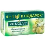 Мило туалетне Palmolive Натурель Інтенсивне зволоження  з екстрактом Оливи і зволожуючим молочком 5х70г