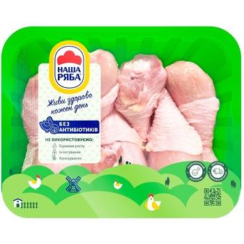Голень Наша Ряба цыпленка-бройлера охлажденная (упаковка ~1,1 кг) - купить, цены на Метро - фото 1