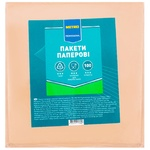 Бумажные пакеты Metro Professional с окошком  160Х160мм 100шт