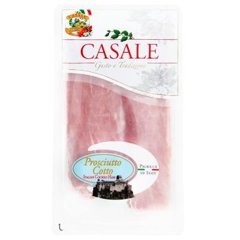 Ветчина Casale Cotto итальянский вареная нарезка слайсами 80г - купить, цены на Метро - фото 1