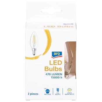 Лампа світлодіодна Aro 4,4W 2700K Е14 2шт - купити, ціни на Метро - фото 1
