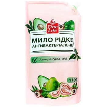 Мыло Fine Life антибактериальное авокадо 1л