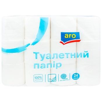 Туалетная бумага Aro двухслойная 24шт - купить, цены на Метро - фото 1
