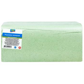 Полотенца бумажные Aro оливковые 250шт - купить, цены на Метро - фото 1