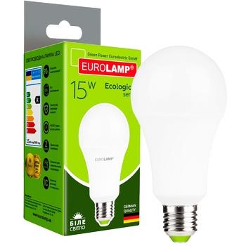 Лампа світлодіодна Eurolamp LED Е27 15W 4000K - купити, ціни на Метро - фото 1