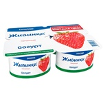 Йогурт Живинка Клубника 1,5% 115гх4шт - купить, цены на Фуршет - фото 1