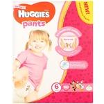 Трусики-подгузники Huggies 6 для девочек 15-25кг 60шт - купить, цены на Ашан - фото 1