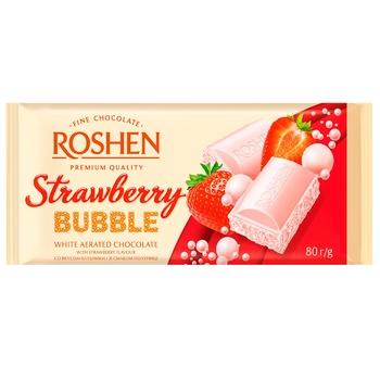 Шоколад Roshen Bubbles пористый клубника 80г