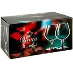 Вohemia Olivia Glasses for cognac 6pcs 400ml