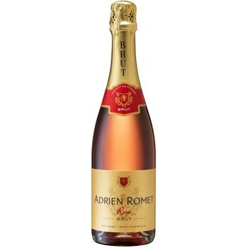 Игристое вино Adrien Romet розовое брют 11,5% 0,75л