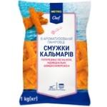 Metro Chef Frozen Squid Strips in Breadcrumbs 1kg