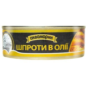 Шпроты Аквамарин в подсолнечном масле 230г - купить, цены на Ашан - фото 2