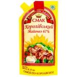 Майонезный соус Королевский Вкус 67% 580г