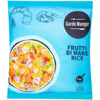 Рис Garde Manger з  морепродуктами 400г - купити, ціни на Ашан - фото 1