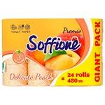 Soffione Premio Toilet Paper Three-layer Peach 24 Rolls