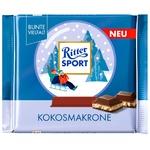 Шоколад Ritter Sports Молочный кокосовое пирожное 100г