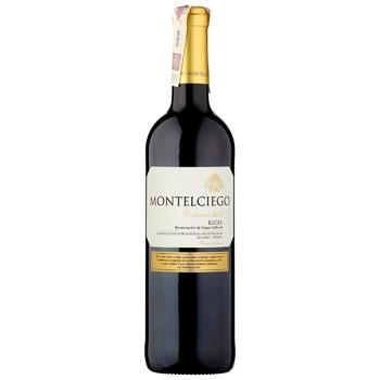 Вино Montelciego Crianza красное сухое 14% 0,75л