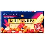 Шоколад Millennium Golden Nut белый с цельными лесными орехами и клюквой 100г - купить, цены на Фуршет - фото 1