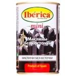 Маслини Iberica міні чорні без кісточки 300г