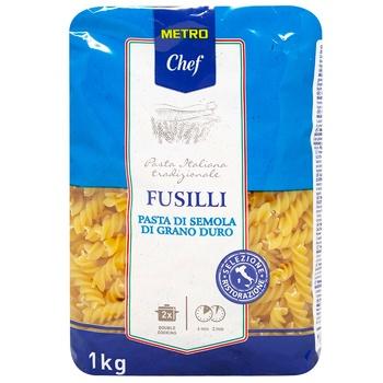 Макаронные изделия Metro Chef Фузилли из твердых сортов пшеницы 1кг - купить, цены на Метро - фото 1