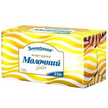 Маргарин Запорожский Молочный особый 70% 250г - купить, цены на Ашан - фото 2