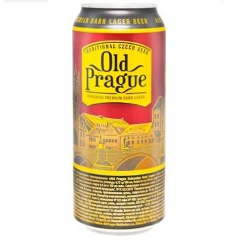 Пиво Old Prague темне 4,4% 0,5л - купити, ціни на Ашан - фото 1