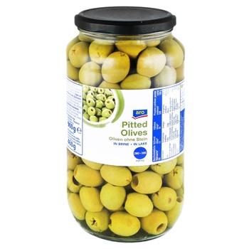 Оливки Aro зелені без кісточки 935мл - купити, ціни на Метро - фото 1