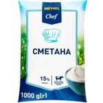 Сметана METRO Chef 15% 1кг