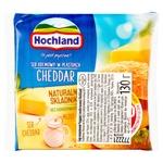 Сыр плавленый Hochland Чеддер ломтиками 40% 130г