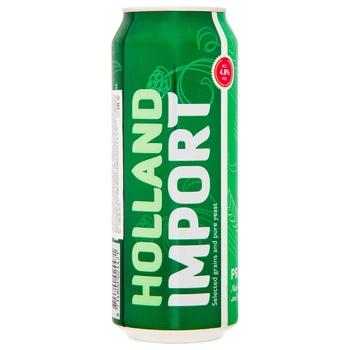 Пиво Holland Import светлое 4,8% 0,5л