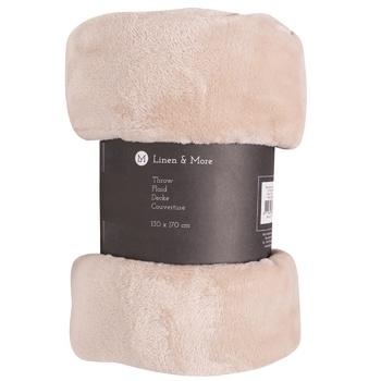 Tarrington House Blanket Fleece 130X170cm in assortment - buy, prices for Metro - photo 1