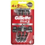 Станок Gillette Blue3 одноразовий чоловічий 6шт