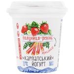 Йогурт Галичина полуниця-ревінь 2,2% 260г