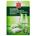 FINE LIFE ТАБ Д/ПММ ECONOM 90ШТ