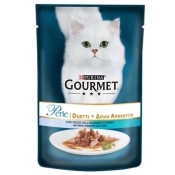Gourmet Perle Duo for cats in sauce with ocean fish and tuna food 85g - buy, prices for CityMarket - photo 1