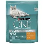Корм сухий Purina ONE Adult З куркою та цільними злаками для дорослих котів 800г