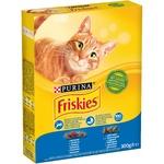 Корм Friskies З лососем та овочами сухий для дорослих котів 300г