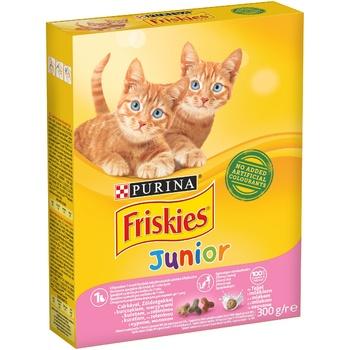 Корм для котят Friskies Junior сухой с курицей, молоком и овощами 300г - купить, цены на Ашан - фото 1