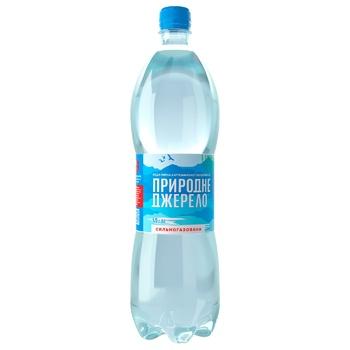 Вода Природне Джерело минеральная питьевая сильногазированная 1,5л